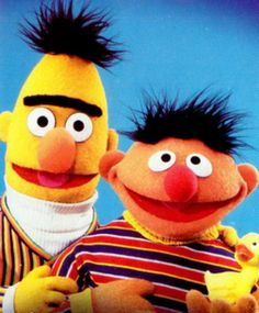 Famous POP Stars. Bert & Ernie of The Muppets.