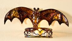 Copper Bat Candle by mikelange3 on Etsy, $65.00