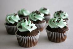 Chocolate Mint Cupcakes |