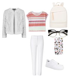 """""""White"""" by ayeshasalsabilla on Polyvore featuring interior, interiors, interior design, home, home decor, interior decorating, ESCADA, Topshop, NIKE and Aéropostale"""
