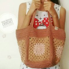 Crochet Granny, My Bags, Straw Bag, Fashion, Knitting Patterns, Accessories, Moda, Fashion Styles, Crochet Pattern