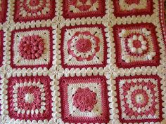 "Ravelry: hruthpw's Pink Baby Girl Blanket - 6"" Squares"