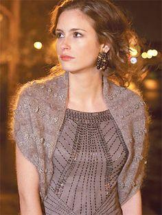 Knit an evening shrug: free knitting pattern | Free Shrug and Bolero knitting…