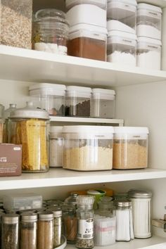 Perfect pantry/kitchen cupboard organization. My cupboards WILL LOOK LIKE THIS ONE DAY...