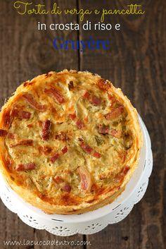 La Cuoca Dentro: Torta salata di verza e pancetta in crosta di riso...