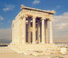 Templo de Atenea Niké. Acrópolis de Atenas. Arte griego.