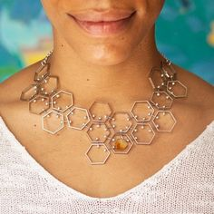 Modern Hexagonal Jewelry by Anomaly Assembly ~ The Beading Gem's Journal