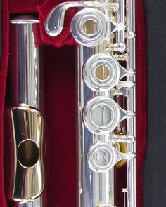 New Gemeinhardt 3OSB NG1 Silver Flute Gold Lip Open Hole B Foot Offset G 30SB   eBay