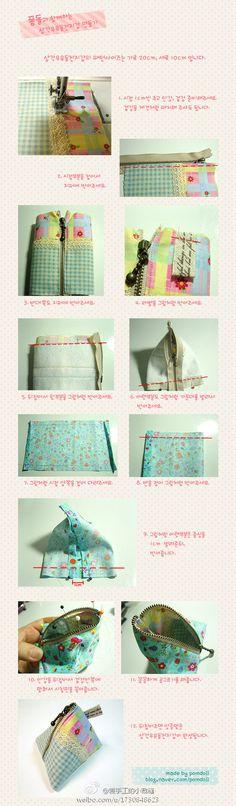DIY pequena bolsa, bonito, apenas no saco do site da Coréia