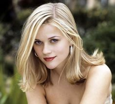 Reese Witherspoon's highlighted blonde hair.