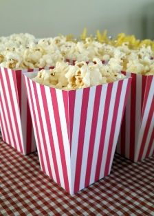 Of course everything should be served in Popcorn boxes! More