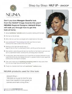 NEUMA: Step By Step How to: Half-up swoop.  Get hair like Meagan Good