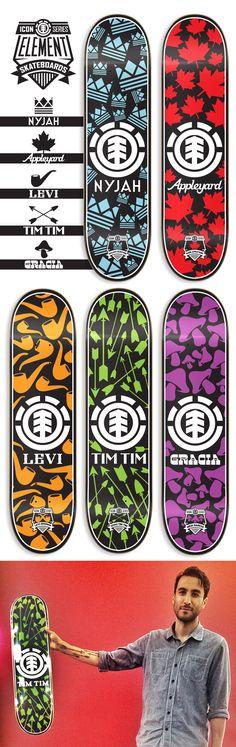 Element Skateboards by Dan Janssen, via Behance