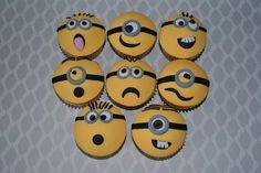 Despicable Me 'Minion' cupcakes
