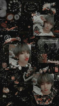 Aesthetic Collage, Kpop Aesthetic, Army Wallpaper, Iphone Wallpaper, Bear Wallpaper, Bts Taehyung, Bts Bangtan Boy, Jimin, Bts Anime