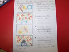 Procedural Writing - How to's in First Grade