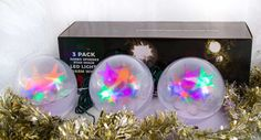 Stay Off the Roof Christmas Star Jumbo Sphere LED Lights Set - 10 ft Lighted Length, Connect up to 90 Sets - Multicolored - Indoor/Outdoor Use, Pack of 3