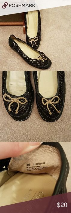 Crochet like  Aerosoles Slight wedge Coldwater Creek by Aerosoles crochet like shoes.  In good condition.   Some wear on the heels.  Black. AEROSOLES Shoes Flats & Loafers
