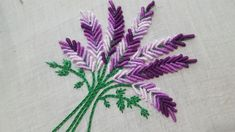 Hand Embroidery: Brazilian Embroidery /Bullion Knot Embroidery Bunch