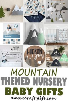mountain nursery - woodland nursery idea - nursery theme - animal nursery - amorecraftylife.com #baby #nursery #babygift #woodland