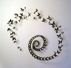 Paul Villinski's beer can butterflies - I would put them on the staircase wall.