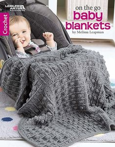 Crochet These 6 On The Go Baby Blankets https://oombawkadesigncrochet.com/2018/03/crochet-these-6-on-the-go-baby-blankets.html