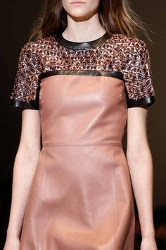 Gucci Fall 2014 Leather Dress With Embellished Detail Profile Photo