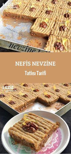 Delicious Nevzine Dessert Recipe - My Delicious Nefis Nevzine Tatlısı Tarifi – Leziz Yemeklerim Delicious Nevzine Dessert Recipe - Dinner Recipes, Dessert Recipes, Dessert Food, Flaky Pastry, Sandwich Cake, Mince Pies, Turkish Recipes, Cookies Et Biscuits, Healthy Desserts