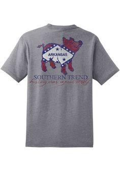 ARKANSAS FLAG PIG POCKET T-SHIRT