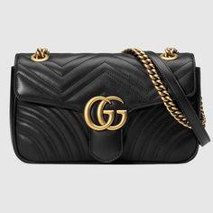15953e70cd Borsa a spalla GG Marmont matelassé misura piccola - Gucci Borse a Spalla  Donna 443497DTDIT1000 Borse