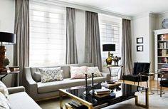 Gardinen vorhänge fenster modern designer grau glanzvoll