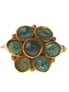 Cabochon Emerald Ring. Credit: Museum of London - cheapside hoard