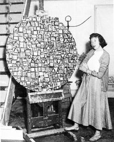 "Lee Krasner ""Lee Krasner produced important collages by cutting up and reusing her paintings and drawings."""