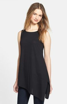 Eileen Fisher Bateau Neck Sleeveless Tunic (Petite) available at #Nordstrom