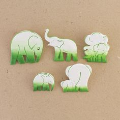 Poo Pin Assorted Green