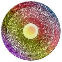Celtic Spirit Healing Mandala Porcelain Plates