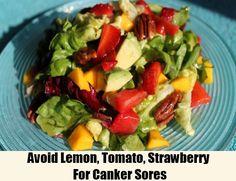 5 Diet tips in link to treat canker sores  Avoid Lemon, Tomato, Strawberry For Canker Sores