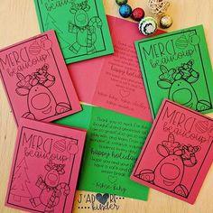 christmas gift card freebie teacher gift kindergarten teacher thank you Laura King ( Teacher Thank You, Teacher Gifts, Kindergarten Gifts, Our Kids, Thank You Cards, Christmas Gifts, Classroom, King, Holidays