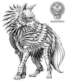 Brown hyena by ben kwok wolf tattoo design, tattoo designs, body art, drawing