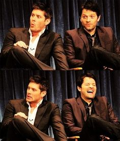 I love thar Misha is laughing his ass off at watever it is that Jensen is horrifed by!