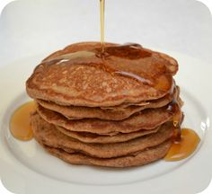 100% Whole Wheat Pancakes with cinnamon. Dinner tonight.