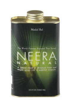 Neera Natural Madal Bal Syrup: perfect for the 'master cleanse' to get essential minerals and energy.