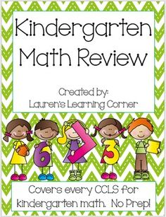 In need of kindergarten math practice? This packet contains review pages for…