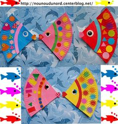 Fish craft idea for preschool Paper plate and plastic plate fish craft ideas Bottle fish crafts Paper fish craft,tissue paper fish craft ideas CD fish craft idea for kids Paper roll,rocks,sock fish craft ideas Fish art activities for kindergarten Kids Crafts, Daycare Crafts, Sunday School Crafts, Craft Activities For Kids, Summer Crafts, Toddler Crafts, Arts And Crafts, Paper Plate Art, Paper Plate Fish