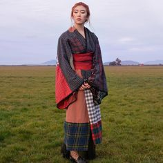 Woman Hand Sews Eclectic Kimono to Honor Her Japanese and Scottish Ancestry