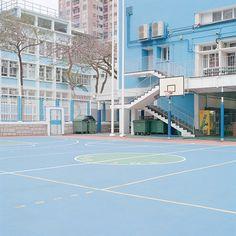 Ward roberts captures the colours of basketball courts blue aesthetic pastel, aesthetic grunge, sport City Aesthetic, Blue Aesthetic, Aesthetic Grunge, Aesthetic Backgrounds, Aesthetic Wallpapers, Casa Anime, Nagisa Shiota, New York Photographers, Anime Scenery