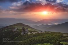 Carpathian Mountains. Colorful sunrise in the mountains by architecturalphotographer