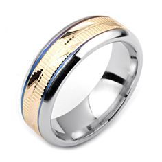 Men's Cobalt Ring Wide Two-Tone Cobalt & Yellow Gold (Solid, not Plated) Wedding Band Fashion Ring Gold Wedding Rings, Wedding Bands, Cobalt Wedding, Mens Ring Designs, Titanium Rings, Platinum Ring, Plaque, White Gold Rings, Fashion Rings