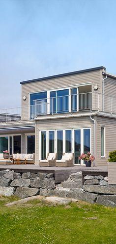 Slik finner du rett farge til huset - Jotun Uteinspirasjon Exterior Colors, Home Fashion, Entrance, Colours, Mansions, House Styles, Inspiration, Home Decor, Brown Beige