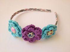 Sweet hair band flower by SweetHandmade Crochet